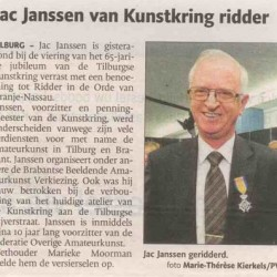 Artikel huldiging in BD